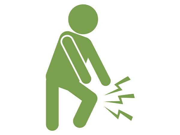 膝の痛みのイラスト